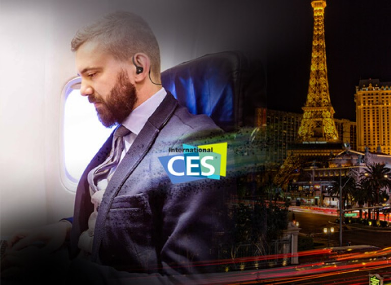 Actions de relations médias internationales à l'occasion du salon CES à Las Vegas