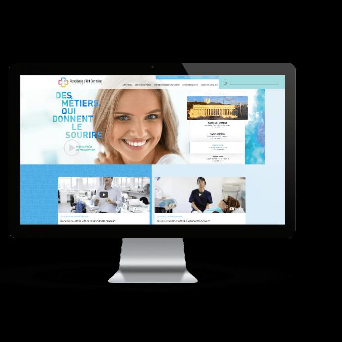 creation-site-internet-design-dentiste-prothésiste-dentaire-academie-art-dentaire